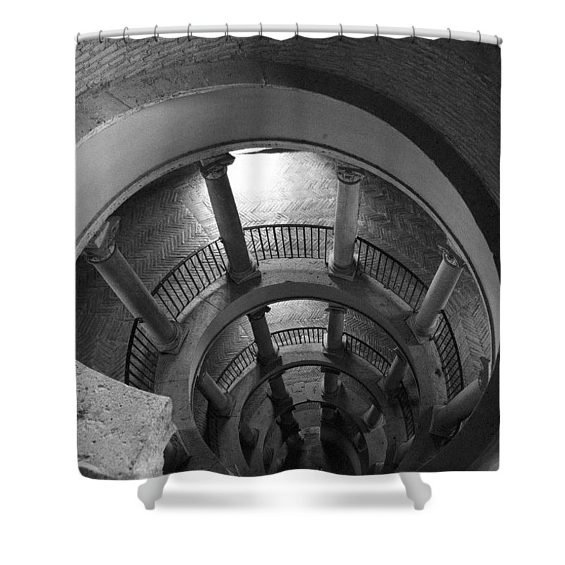 Spiral Staircase Shower Curtain featuring the photograph Spiral Staircase by Donna Corless