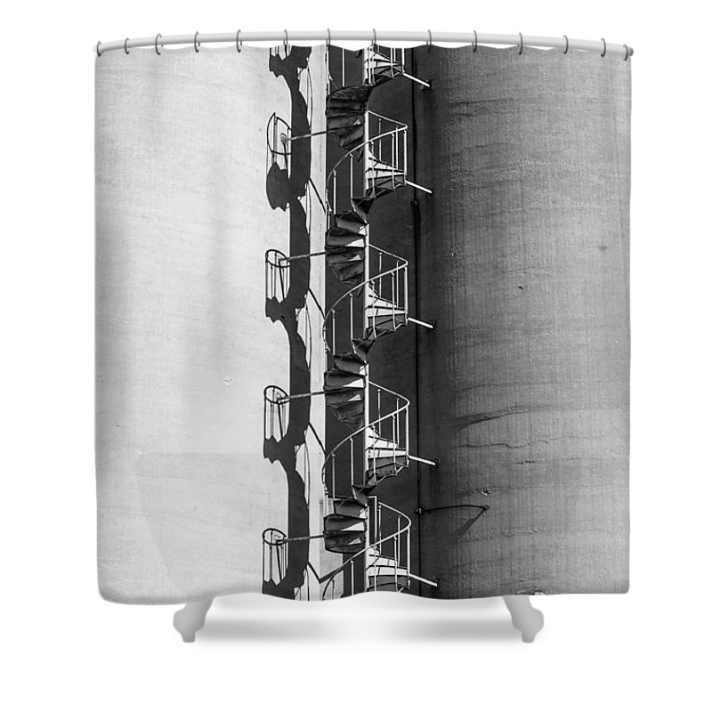 Spiral Staircase Shower Curtain featuring the photograph Spiral Stairs Forever by Charles McCleanon
