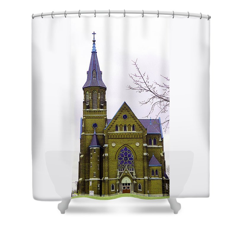 Spire Shower Curtain featuring the photograph Spire by Albert Stewart