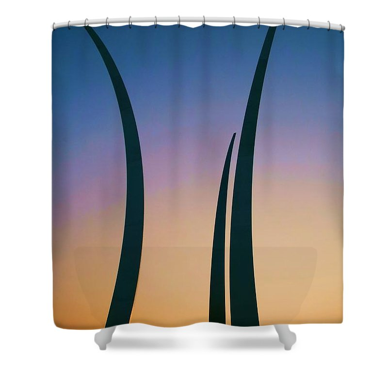 Usaf Shower Curtain featuring the photograph Spirit And Dignity by Mitch Cat