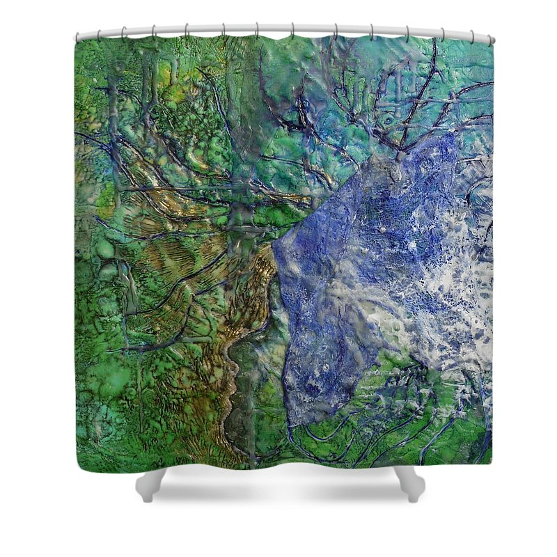 Spirit Guide Shower Curtain featuring the painting Spirit Guide For Eve by Heather Hennick