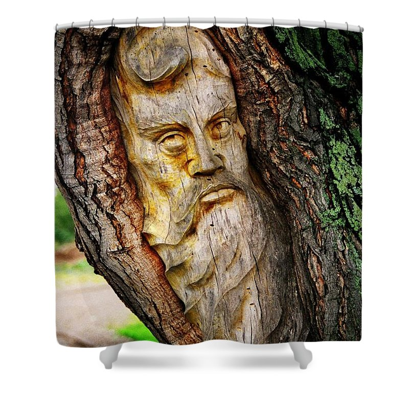 North America Shower Curtain featuring the photograph Spirit Of The Forest ... by Juergen Weiss
