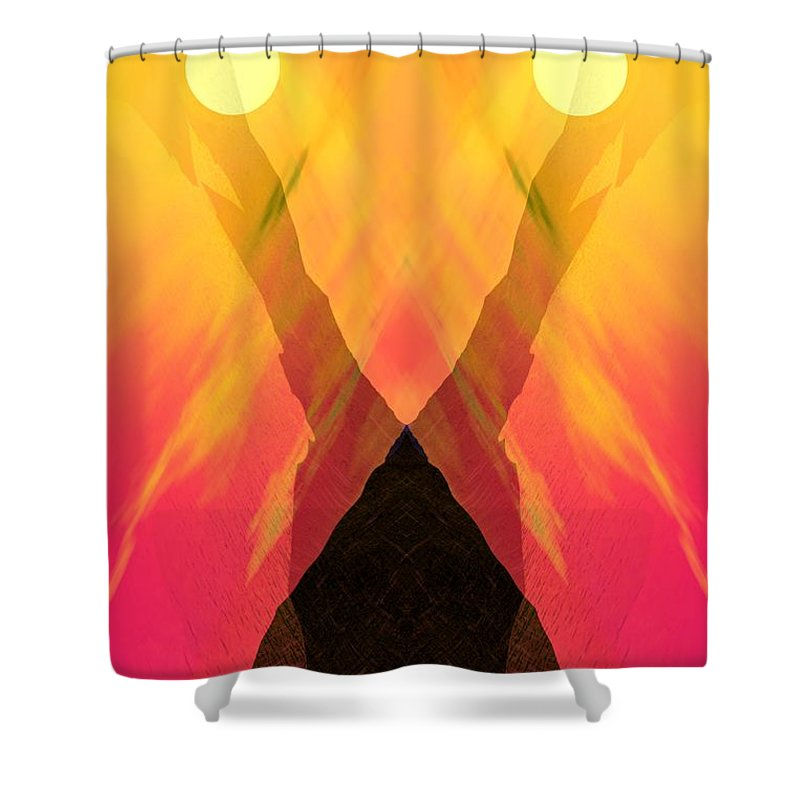 Shower Curtain featuring the digital art Spirit Of The Mountain by David Lane