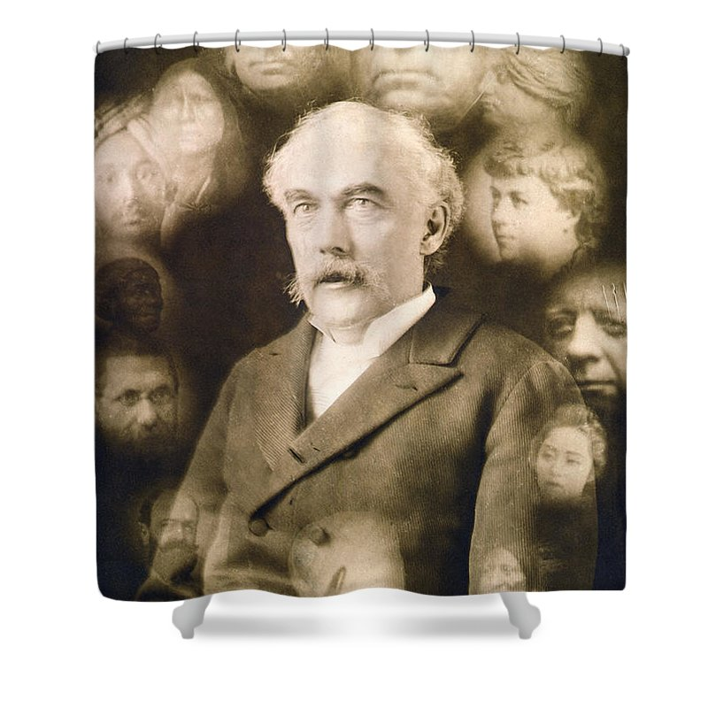 1901 Shower Curtain featuring the photograph Spirit Photograph, C1901 by Granger
