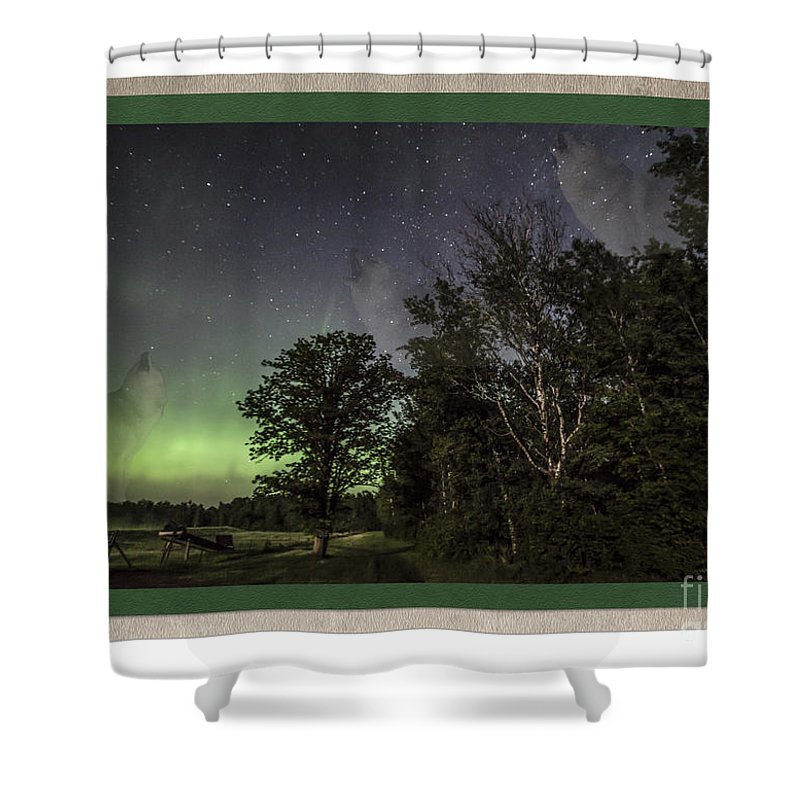 Minnesota Shower Curtain featuring the photograph Spirit Wolf Collection - 4 by Donna Crider
