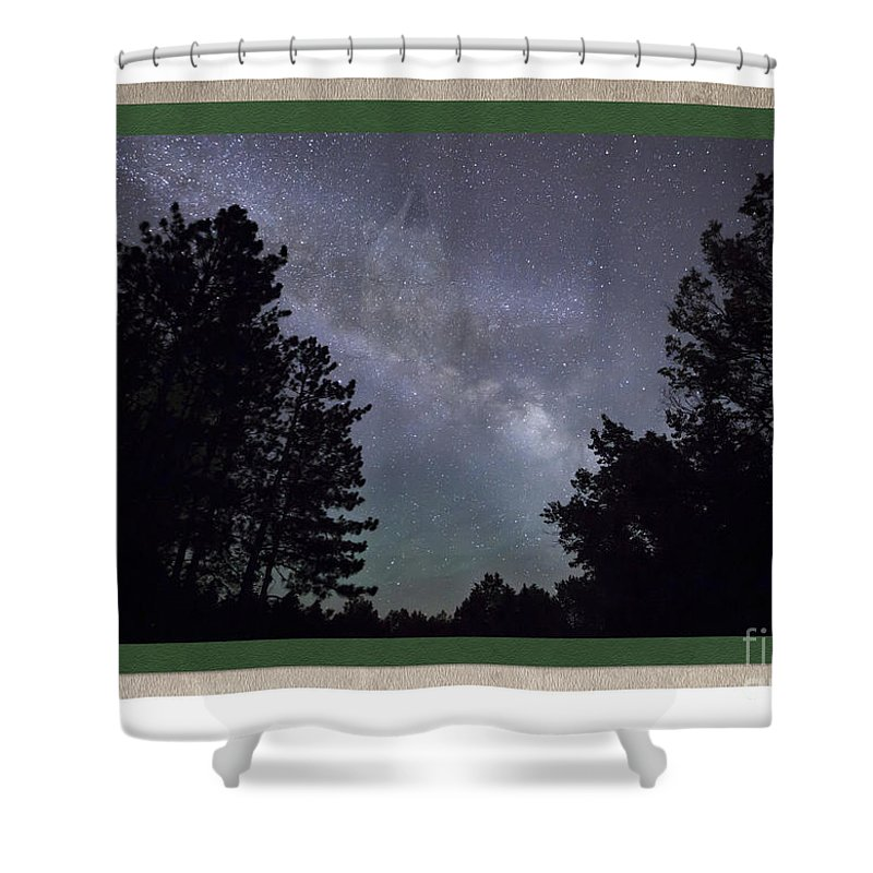 Milky Way Shower Curtain featuring the photograph Spirit Wolf Collection - 5 by Donna Crider