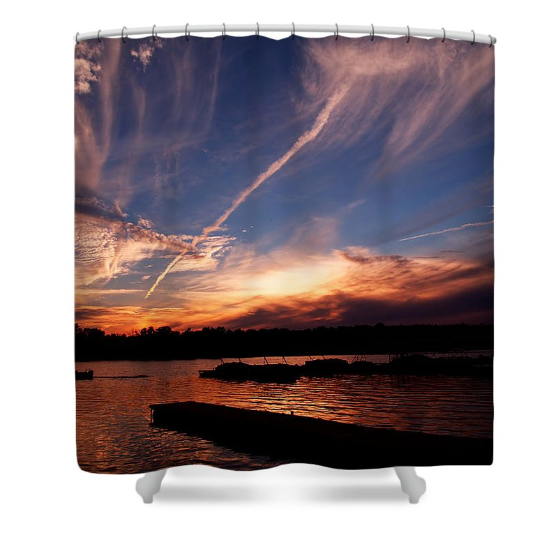Sky Shower Curtain featuring the photograph Spirits In The Sky by Gaby Swanson