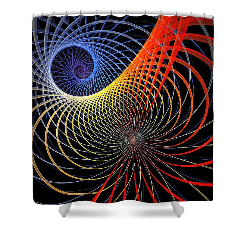 Digital Art Shower Curtain featuring the digital art Spirograph by Amanda Moore