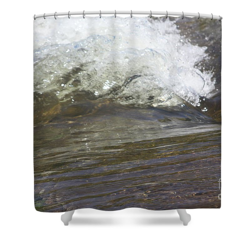 Water Shower Curtain featuring the photograph Splabstract by Gordon J Weber