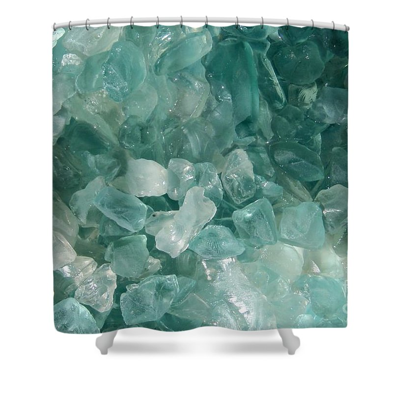 Sea Glass Teal White Ocean Shower Curtain featuring the photograph Splash by Kristine Nora