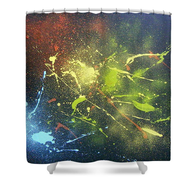 Splash Shower Curtain featuring the painting Splash by Olaoluwa Smith