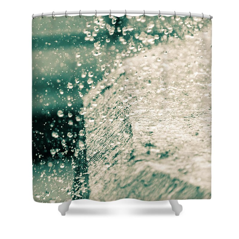 Background Shower Curtain featuring the photograph Splashing Water by Jacek Wojnarowski