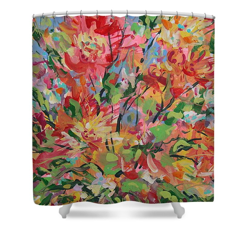 Painting Shower Curtain featuring the painting Splendor. by Leonard Holland