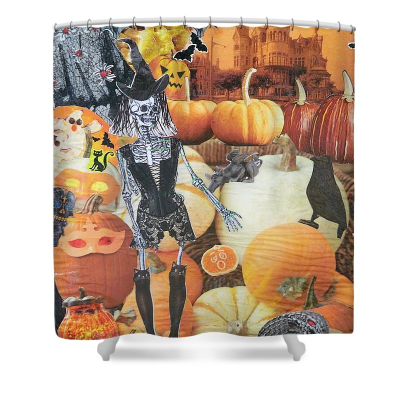 Harvest Shower Curtain featuring the photograph Spooky Harvest by Nancy Graham