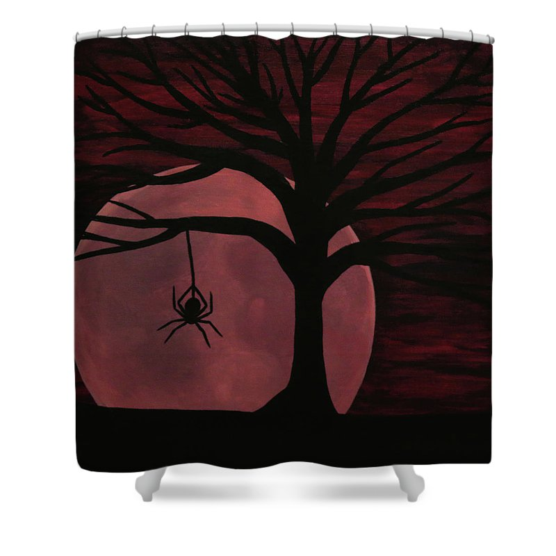Spooky Spider Tree Shower Curtain