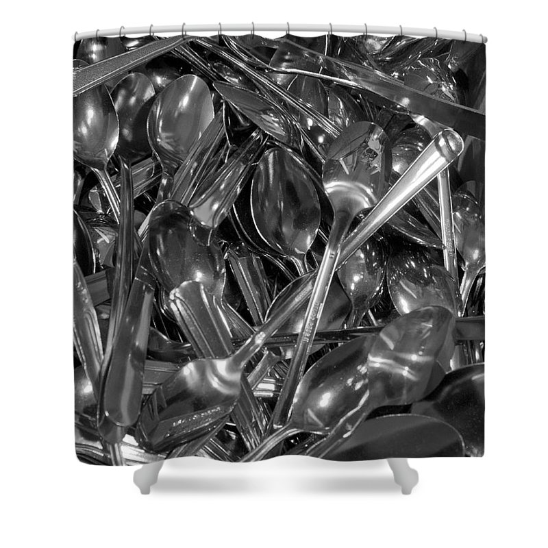 Spoons Shower Curtain featuring the photograph Spoons by Henri Irizarri