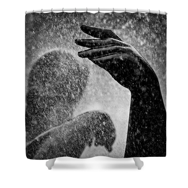 Fountain Shower Curtain featuring the photograph Spray by Dave Bowman