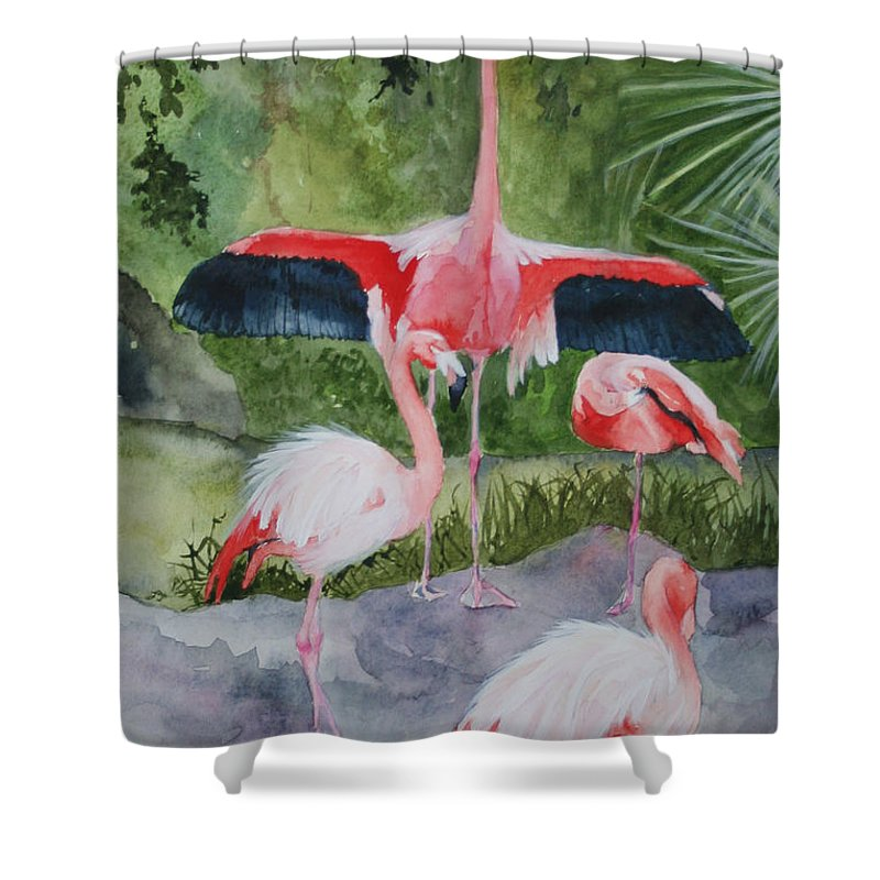 Wings Shower Curtain featuring the painting Spreading My Wings by Jean Blackmer