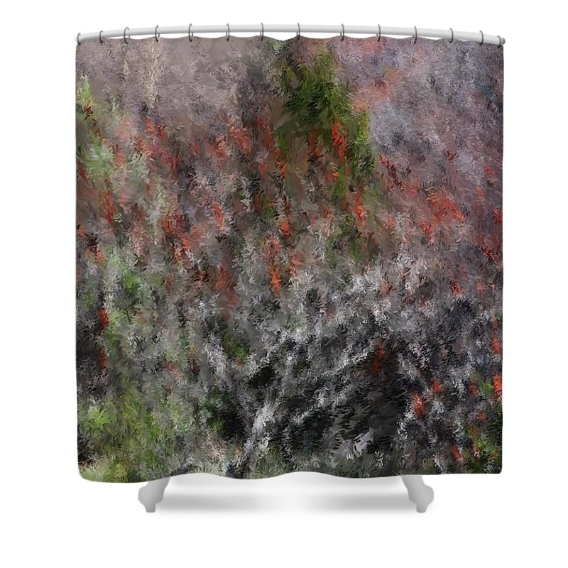 Spring Shower Curtain featuring the photograph Spring At The Hacienda by David Lane