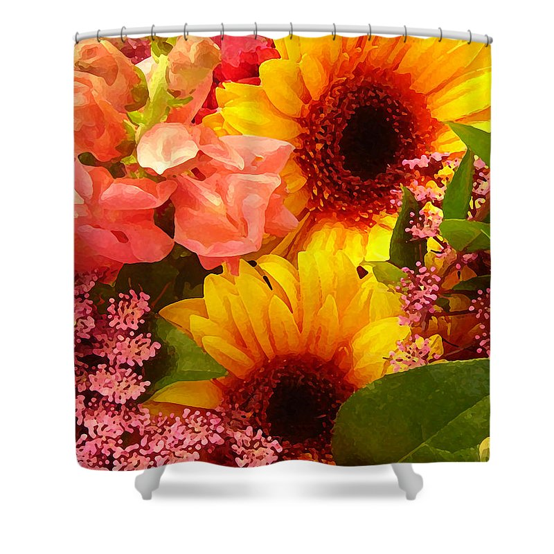 Roses Shower Curtain featuring the photograph Spring Bouquet 1 by Amy Vangsgard