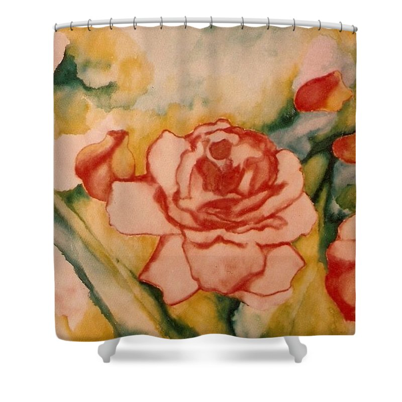 Blooms Artwork Shower Curtain featuring the painting Spring Garden by Jordana Sands