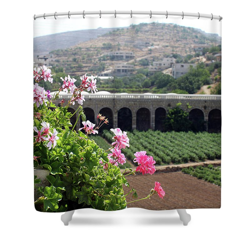 Spring Shower Curtain featuring the photograph Spring In Bethlehem by Munir Alawi