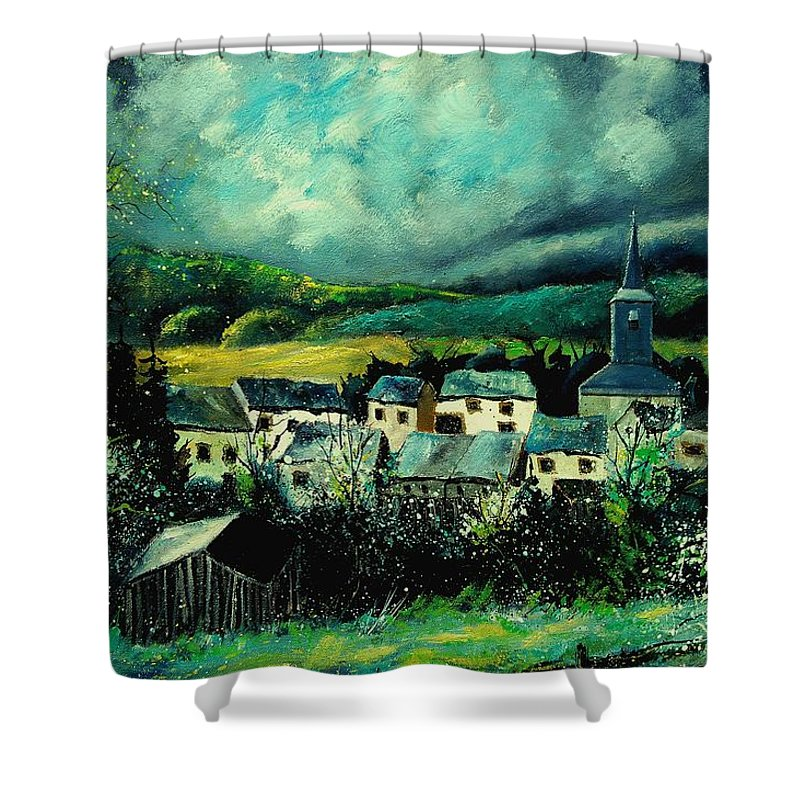 Tree Shower Curtain featuring the painting Spring In Daverdisse by Pol Ledent