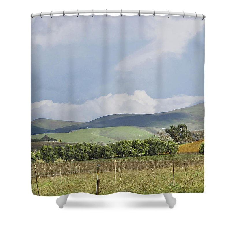 Landscape Shower Curtain featuring the photograph Spring In Livermore by Karen W Meyer