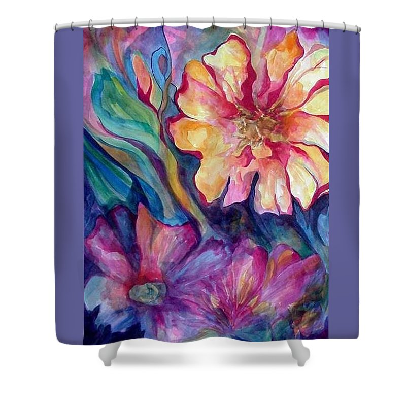 Spring Shower Curtain featuring the painting Spring In My heart by Carolyn LeGrand