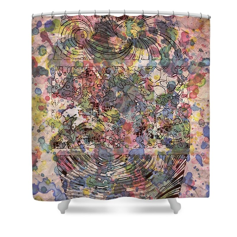Digital Art. Abstract. Mad Vision. Riot. Explosion. Shower Curtain featuring the digital art Spring In The Air by Lawrence Allen