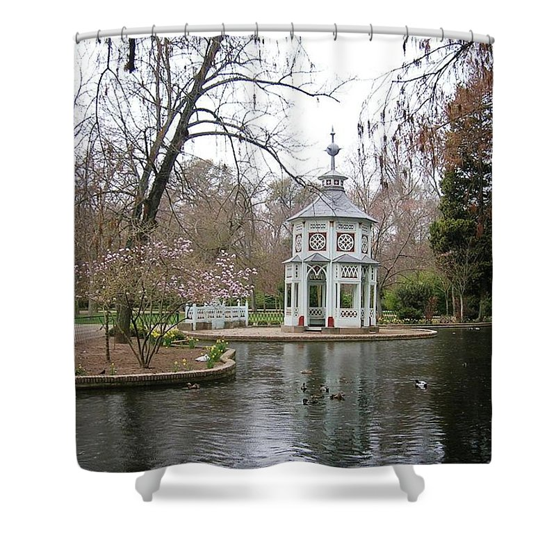 Landscape Shower Curtain featuring the photograph Spring In The Aranjuez Gardens Spain by Valerie Ornstein