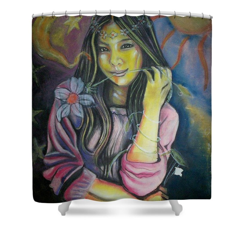 Pastels Shower Curtain featuring the pastel Spring Is In The Air by Americo Salazar