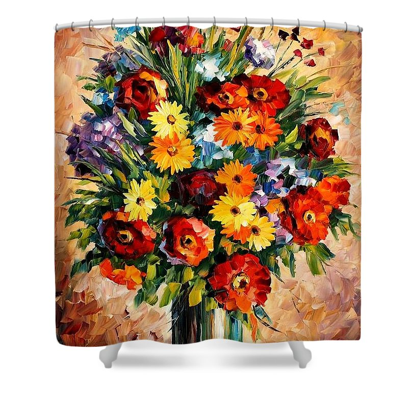 Afremov Shower Curtain featuring the painting Spring Passion by Leonid Afremov