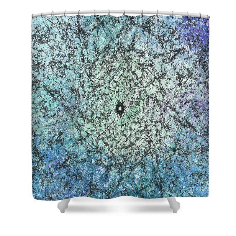 Blue Shower Curtain featuring the photograph Spring Rain by Teresa Wilson