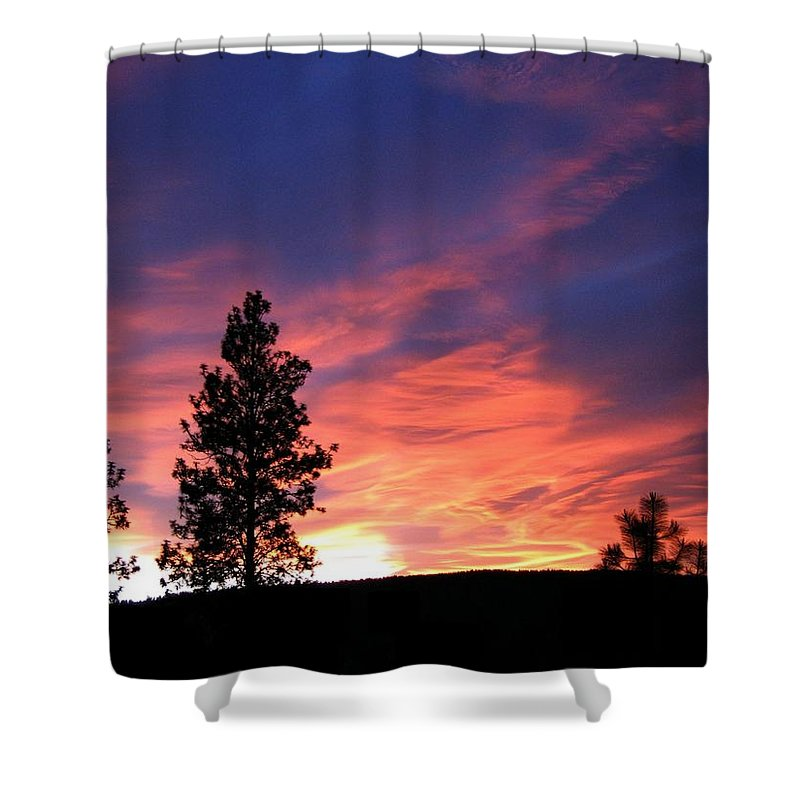 Sunset Shower Curtain featuring the photograph Spring Spectacle by Will Borden