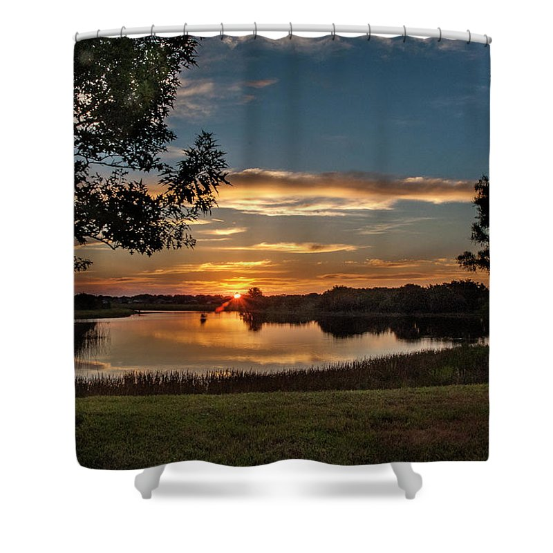 Sunrise Shower Curtain featuring the photograph Spring Sunrise At Valhalla by Norman Johnson