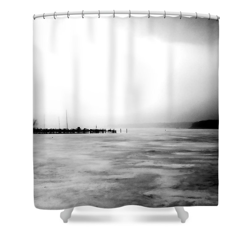 Lake Shower Curtain featuring the photograph Spring Thaw by Michelle Calkins