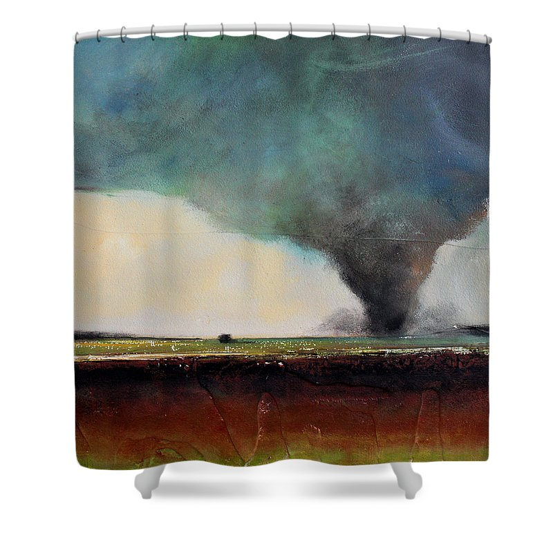 Tornado Shower Curtain featuring the painting Spring Tornado by Toni Grote