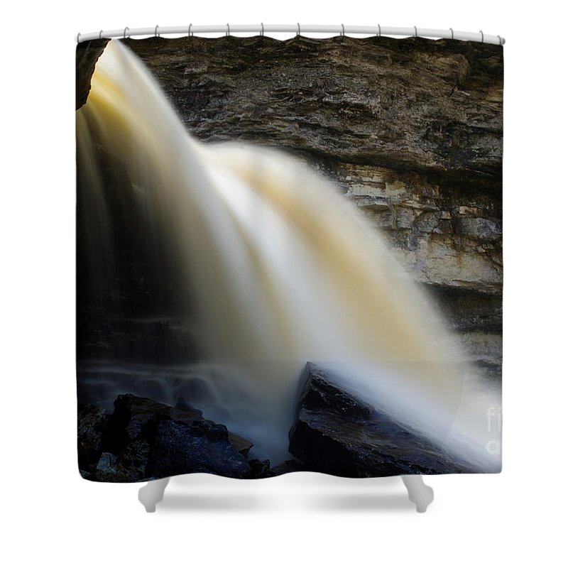 Shower Curtain featuring the photograph Spring Waterfall by Kitrina Arbuckle