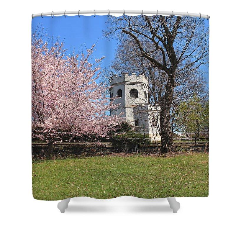 Garden Shower Curtain featuring the photograph Springtime At The Botanical Garden by Nadia Asfar