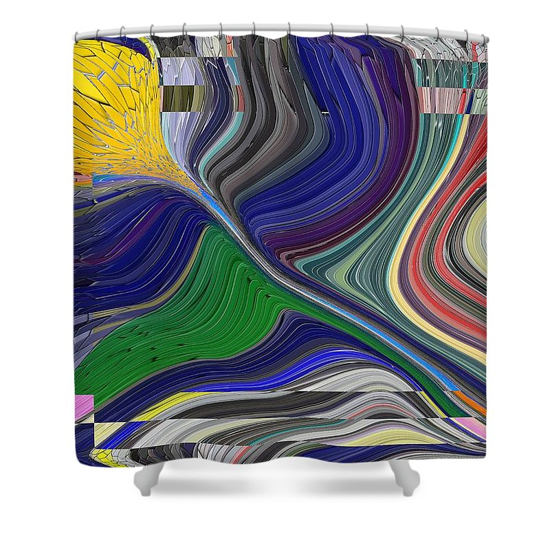 Abstract Shower Curtain featuring the digital art Springtime Delight by Tim Allen