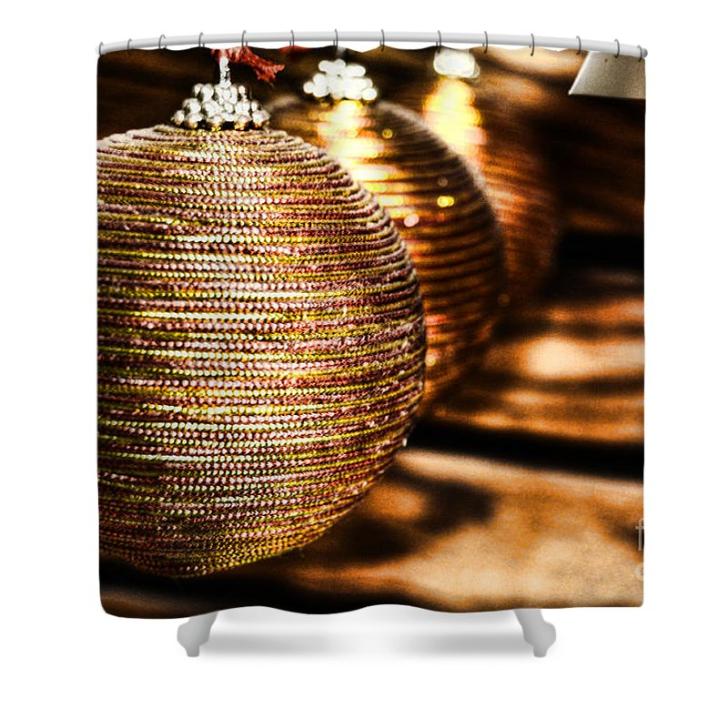 Spun Gold Shower Curtain featuring the photograph Spun Gold by Chris Fleming