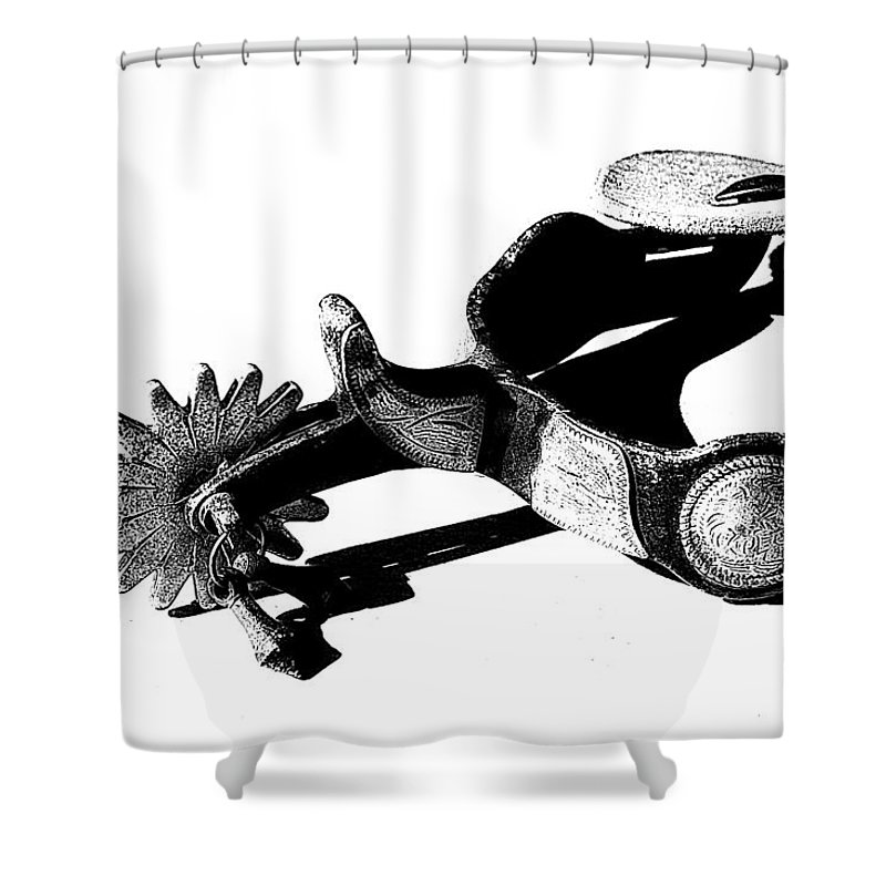 Spur Shower Curtain featuring the photograph Spur 1 by Tina Meador