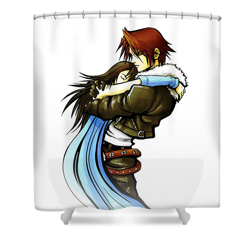 Couple Squall Rinoa Ffviii Final Fantasy Viii Ff8 8 Shower Curtain Featuring The Drawing
