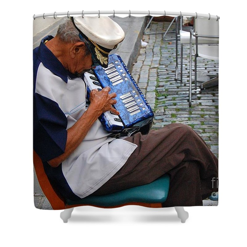 People Shower Curtain featuring the photograph Squeeze Box by Debbi Granruth