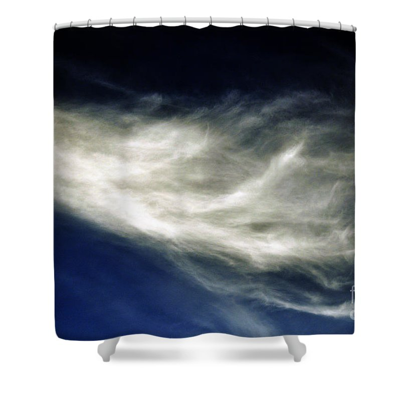 Clay Shower Curtain featuring the photograph Squid Cloud by Clayton Bruster