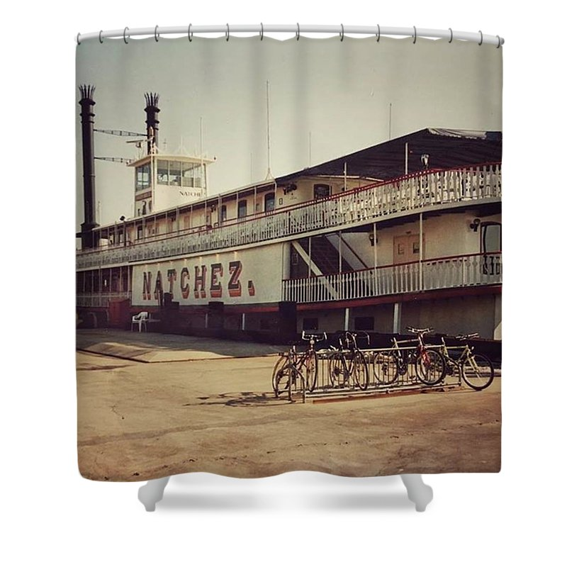 Shower Curtain featuring the photograph Ss Natchez, New Orleans, October 1993 by John Edwards