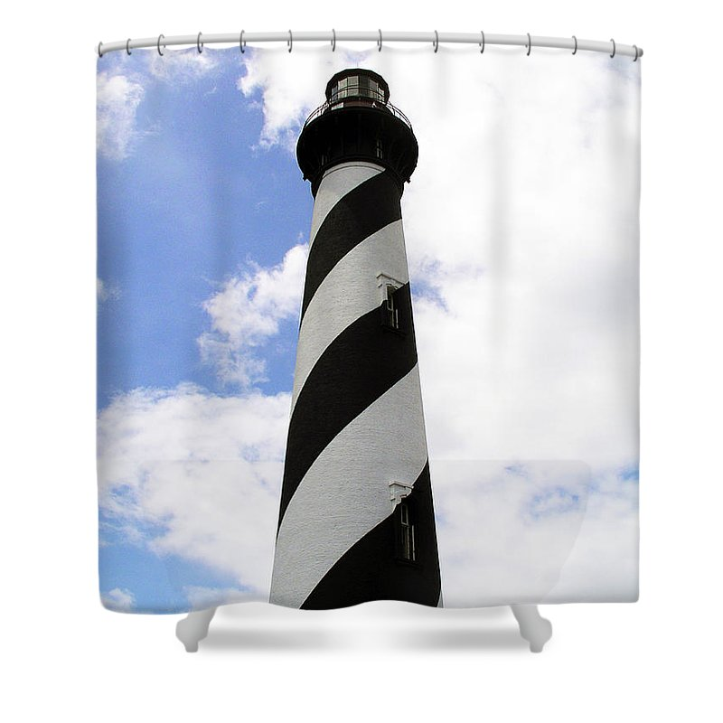 Lighthouse; Light; House; Keeper; St. Augustine; Florida; Coast; Shine; Fog; Storms; U.s. Coast Guar Shower Curtain featuring the photograph St. Augustine Light by Allan Hughes
