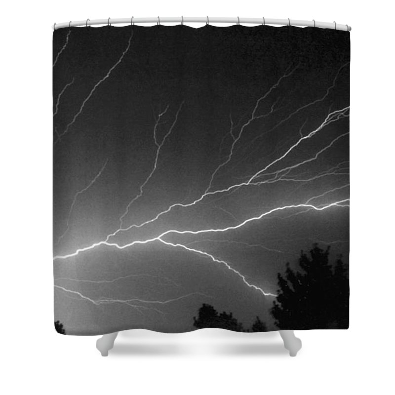 Lightning Shower Curtain featuring the photograph St Elmo S Tree by Chris Fleming
