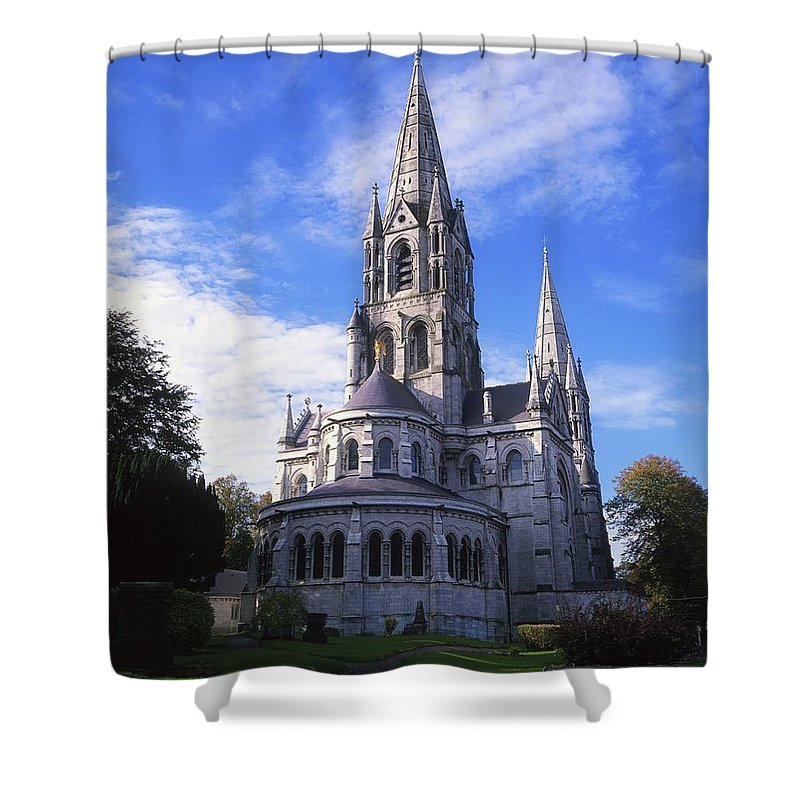 Architectural Shower Curtain featuring the photograph St Finbarrs Cathedral, Cork City, Co by The Irish Image Collection